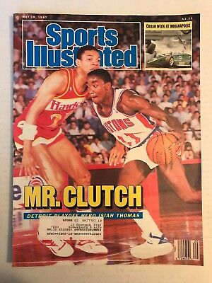May 22, 1987 Sports Illustrated Mr. Clutch Isiah Thomas Detroit Pistons NBA - EX