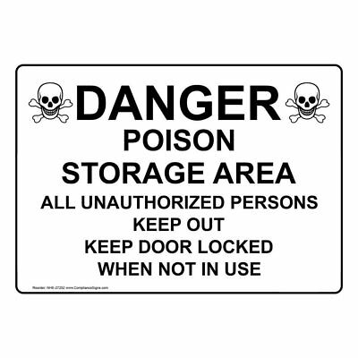 Compliancesigns plastic keep out poison baited no pets allowed sign compliancesigns plastic poison storage area keep out sign 10 x 7 in publicscrutiny Image collections
