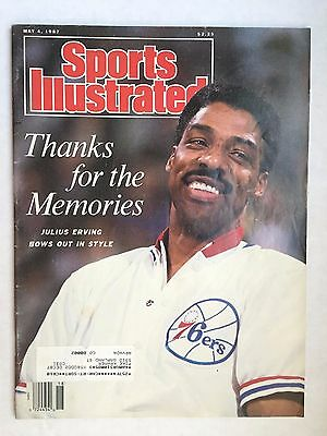 """May 4, 1987 Sports Illustrated Julius Erving """"Thanks for the Memories""""  (2) VGEX"""