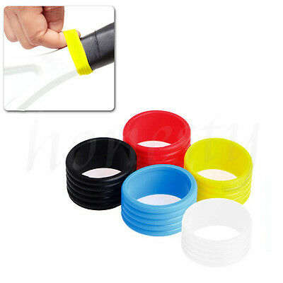 2X Stretchy Racket Handle's Rubber Ring Tennis Racquet Band Overgrip Protector