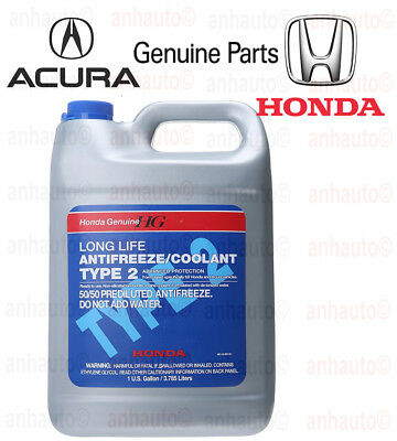 Genuine Honda Acura Long Life Antifreeze / Engine Coolant OL9999011 Blue Color