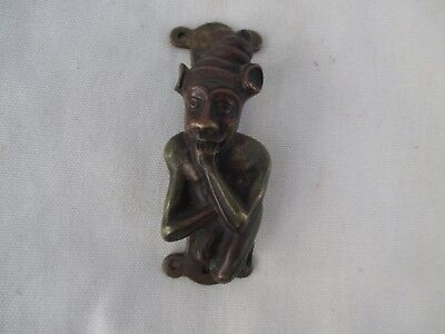 Art Nouveau Door Knocker Brass, Jester Door Knocker, Pan, Satyr, Door Knocker