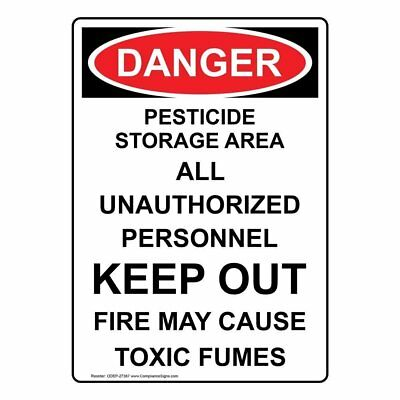 Compliancesigns aluminum osha danger sign 14 x 10 in with compliancesigns vertical aluminum osha danger pesticide storage area all publicscrutiny Image collections