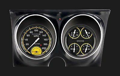 1967 - 1968 Chevy Camaro Direct Fit Gauge Auto Cross Yellow CAM67AXY