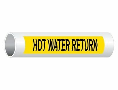 ComplianceSigns Vinyl ASME A13.1 Water Pipe Label, 12 x 2.5 Inch Yellow 50-pack