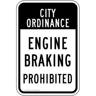 ComplianceSigns Aluminum Transportation sign, Reflective 24 x 18 in. with...