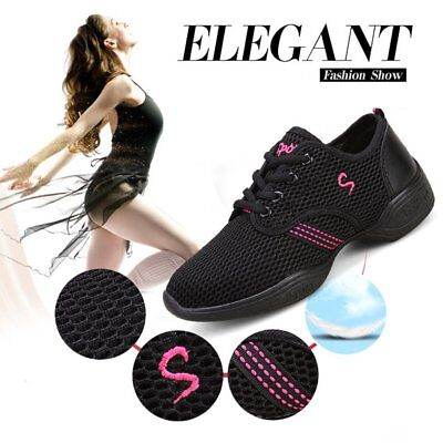 Female Dance Sneakers Soft Mesh Shoes Woman Jazz Ballroom Practicing Shoes O