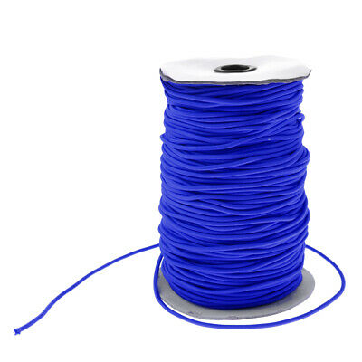 3mm Strong Blue Elastic Round Bungee Rope Shock Cord Tie Down Boat Kayak DIY