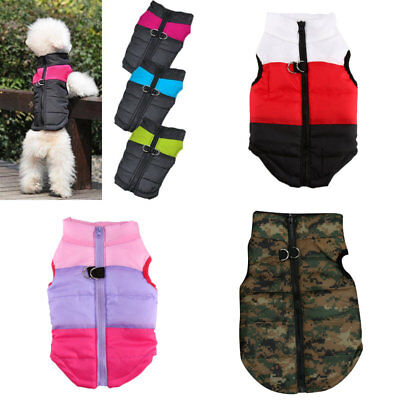 Winter Pet Dog Puppy Coat Jacket  Quilted Padded Puffer Small & Large Waterproof
