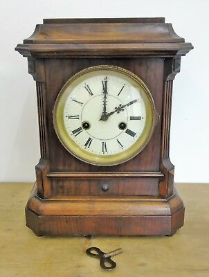Victorian Walnut Bracket Mantle Clock