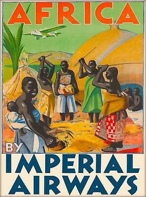 Africa by Imperial Airways African Vintage Airline Travel Advertisement Poster