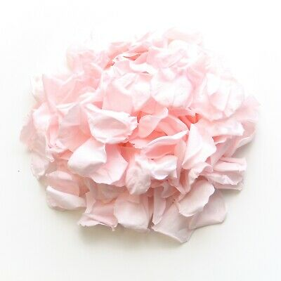 Pale Pink rose petals for wedding confetti decoration, preserved