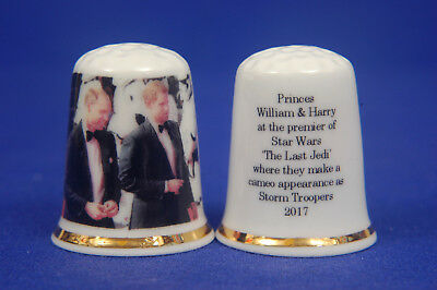 Prince William & Harry At The Premier of Star Wars 'The Last Jedi' Thimble B/119