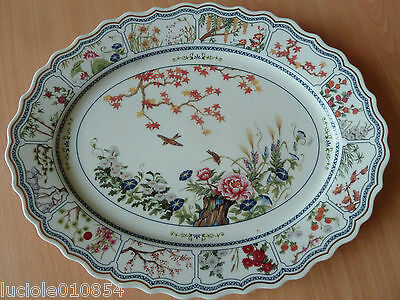 Grand Plat Ovale The Franklin Mint En Porcelaine Fleurs De L'orient