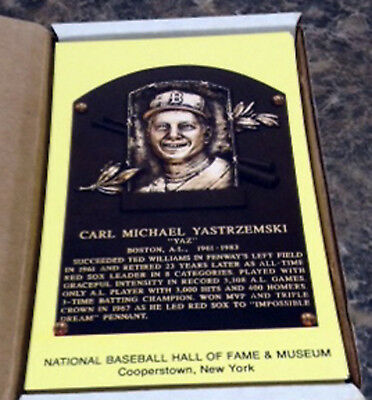 1989 Hall of Fame Yellow Plaque Postcard Set Cobb Ruth Gehrig Wagner Clemente ++