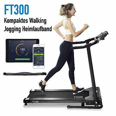Fitifito FT300 Basis Laufband APP Bluetooth Tablethalter Pulsmessung 1 PS 10km/h