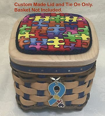 Custom Made Lid And Tie On Only for the Longabeger Autism Basket