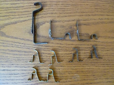 9 Brass Finish/Silver finish Vintage Drapery Rod Brackets Various Sizes