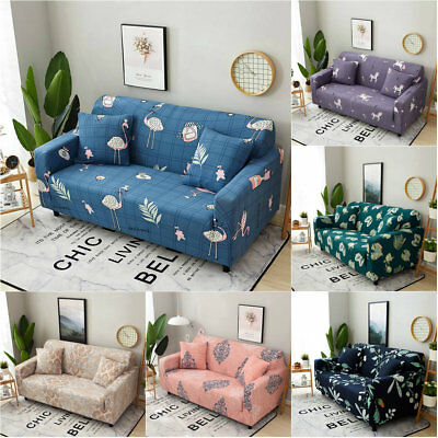 1/2/3 Seater Easy Fit Stretch Couch Sofa Slipcover Protector Cover Washable