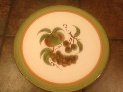 """Lovely Stangl 14¼"""" Round  Platter In The Orchard Song Pattern,  Euc"""