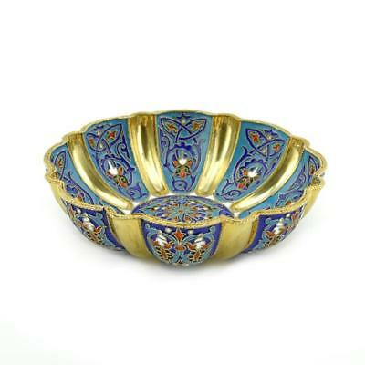 Antique Russian Khlebnikov cloisonne enamel bowl