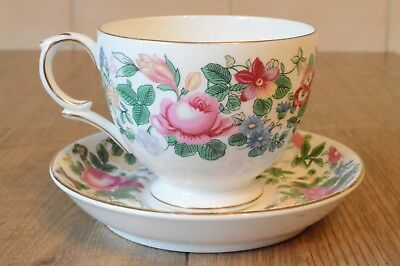 Crown Staffordshire Bone China Cup & Saucer Thousand Flowers