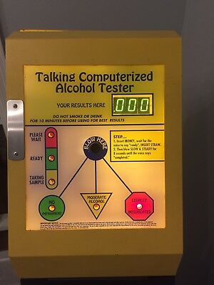 Alcohol Tester Dollar Operated Breathalyzer Vending w/ Stand - Income Maker!