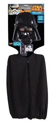 Kids Darth Vader Costume Accessory Kit with Electronic Sound Box + Mask + Cape