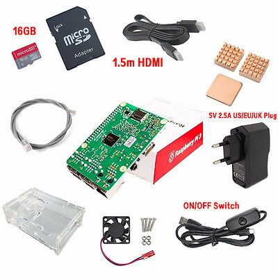 NEW Raspberry Pi 3 Model B 1GB RAM Quad Core 1.2GHz CPU Starter Kit