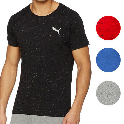 Puma NEW Mens Evostripe Space Knit Crewneck Raglan Dry Cell Tee T-Shirt $35