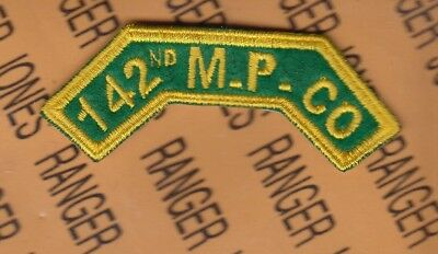 US ARMY 142nd MP Military Police Company 8th Army Korea Tab arc patch
