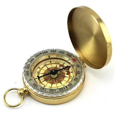 Good Quality Classic Pocket  Watch Style Outdoor Camping Hiking Navigation Brass