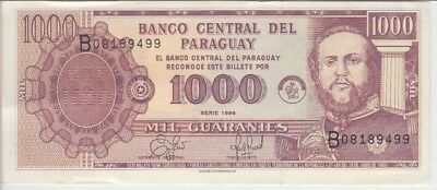 PARAGUAY BANKNOTE P214a 1000 1.000 1,000 GUARANIES 1998, EF+