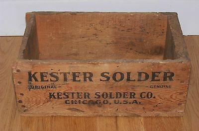 Vintage Kester Self-Fluxing Solder Wooden Shipping Crate/Box Chicago IL Plumbing