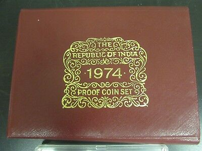 1974 Republic of India Proof Coin Set India Government Mint Bombay