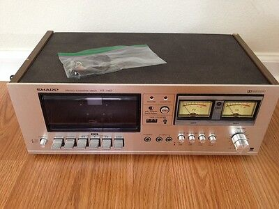 Sharp RT-1157 Stereo Cassette Recorder VINTAGE Tape Player For Parts Repair