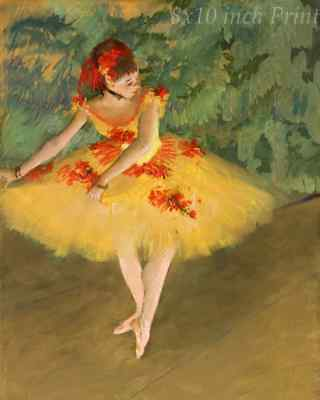 Seated Dancer by Edgar Degas Ballet Theater Girl Rest 8x10 Print Picture 1677