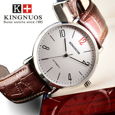 Fashion Simple Casual Mens Minimalist Leather Strap Quartz Business Wristwatches