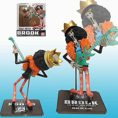 "One Piece Anime For The New World Brook with Guitar Figuarts Zero 7"" Figure Toys"