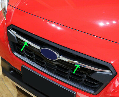 fits Subaru XV/Crosstrek 2018-19 ABS Chrome Front Center Grille Grill Cover Trim