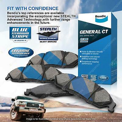 4 Bendix Front General CT Brake Pads For Ford Fairlane Falcon BA BF FG 4.0 5.4