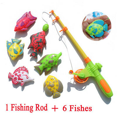 Magnetic Fishing Fish Rod Model Game Fun Toy Kid Children Baby Bath Time Gift