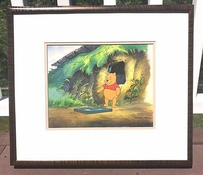 Walt Disney New Adventures Winnie the Pooh Original Production Cel Framed w COA