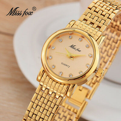 Miss Fox Fashion Brand Women Casual Simple Luxury Quartz Minimalist Wristwatches