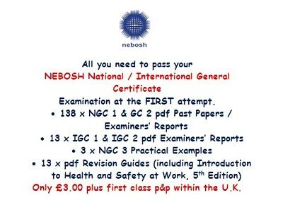 151 NEBOSH GENERAL Certificate NGC 123 & IGC Papers & Reports 3 Practical Exams