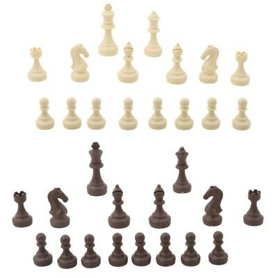 32pcs/set Chess Pieces Plastic Chess King High 63mm Entertainment Games New