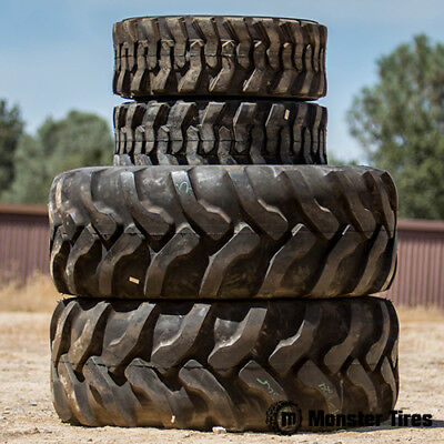 Brand New Oem Quality (2) 14X17.5 & (2) 19.5L24 Backhoe Tire Set (4) Tires Total