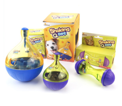 New 3 Styles Dog Cat Dispenser Kitten Interactive Chase Treat Play Fun Ball Toy