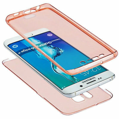 360° Protective Clear Soft TPU Gel Case Cover For Samsung Galaxy S6 S7 S8