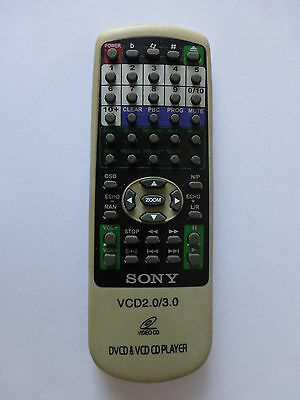 Sony Video Cd Vcd Player Remote Control Vcd2.0 Vcd3.0